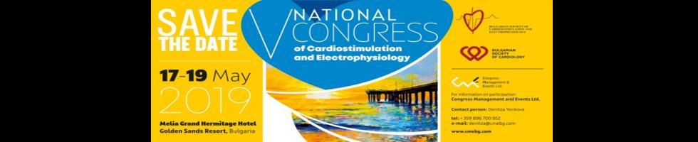 V National Congress on Cardiostimulation and Electrophysiology