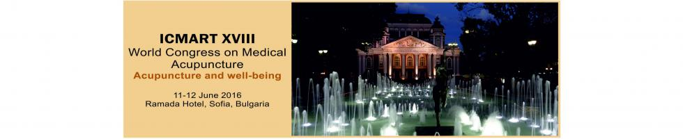 ICMART XVIII World Congress on Medical Acupuncture - Acupuncture and well-being